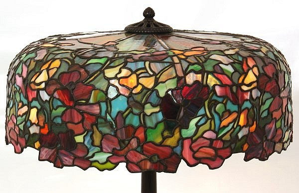 J.A. Whaley Floral Table lamp