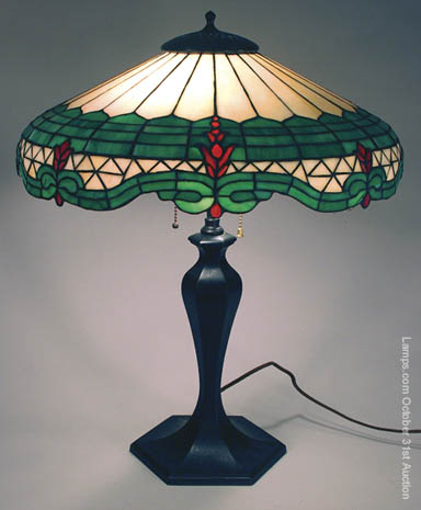 American Leaded Glass Table Lamp