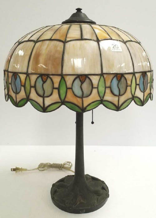 American Bent Glass Lamp