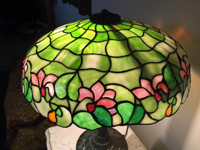 J. A. Whaley Floral Table Lamp