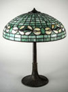 Suess Ornamental Glass Company Floral Border Table Lamp