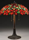 Suess Ornamental Red Peony Table Lamp