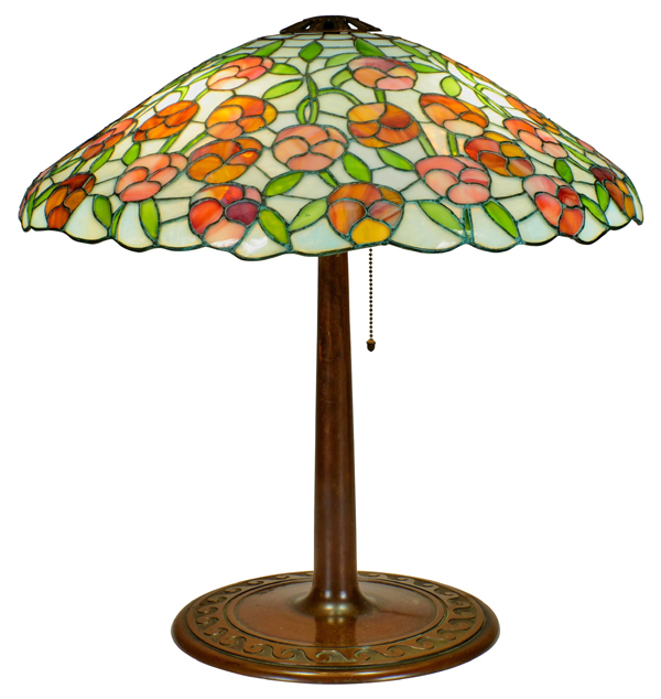 Suess Floral Leaded Lamp